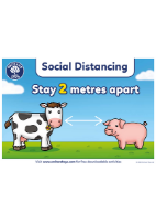 Farm Animal Social Distant Poster 2M