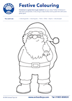 Father Christmas Colouring Sheet