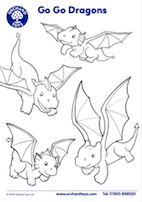 Go Go Dragons Colouring Sheet