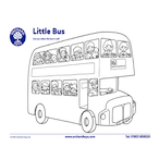 Little Bus Colouring Sheet