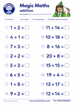 Magic Maths Addition Worksheet