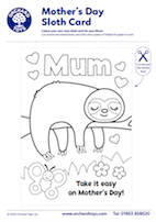 Mother's Day Sloth Card