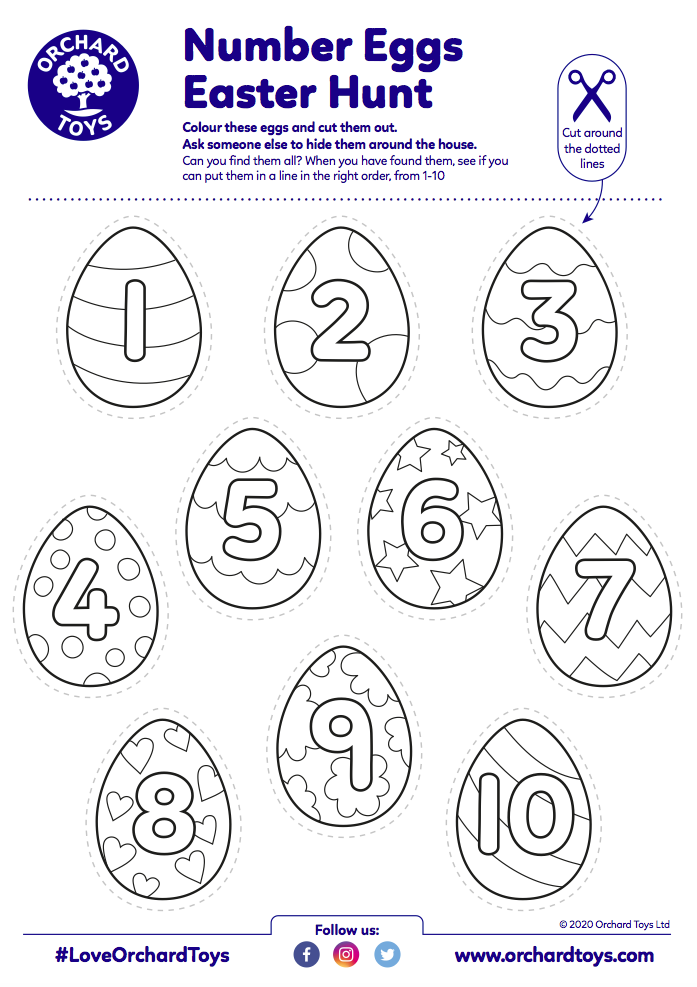 Number Easter Egg Hunt