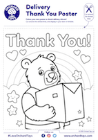 Thank You For Our Delivery Bear