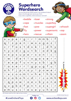 Super Hero Wordsearch
