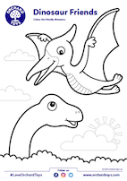 Dinosaur Colouring