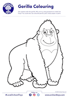 Gorilla Colouring Sheet