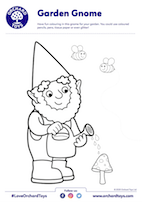 Garden Gnome Colouring Sheet
