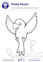 Pretty Parrot Colouring Sheet