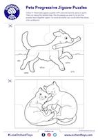 Pets Progressive JIgsaw Puzzles