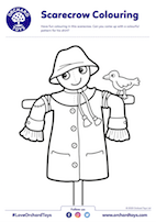 Scarecrow Colouring Sheet