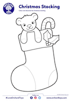 Christmas Stocking Colouring Sheet