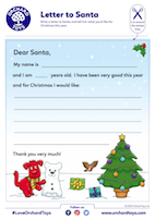 Letter to Santa with Colour