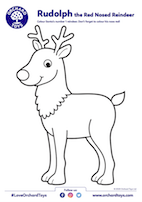 Rudolph Colouring Sheet