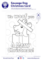 Sausage Dog Xmas Card