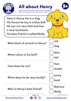 All About Henry Comprehension