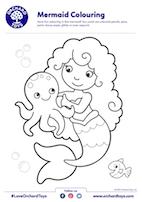 Mermaid Colouring
