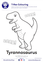 T-Rex Colouring