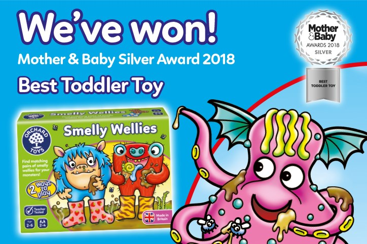 Smelly Wellies Silver Win Mother and Baby Awards