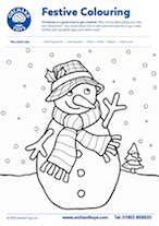 Snowman Colouring Sheet