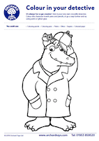 Sound Detectives Crocodile Colouring Sheet