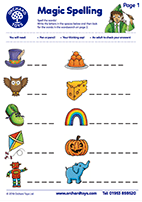 Spelling Activity Sheet