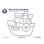Transport Boat Colouring Sheet