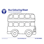 Transport Bus Colouring Sheet