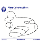 Transport Plane Colouring Sheet