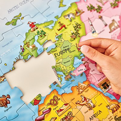 Interactive Jigsaw Map Of Ireland.World Map Puzzle Poster
