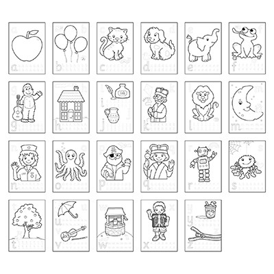 - ABC Colouring Book With Stickers