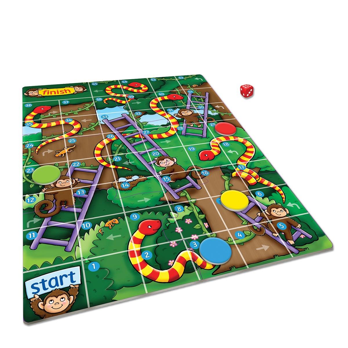 Jungle Snakes Ladders Mini Game