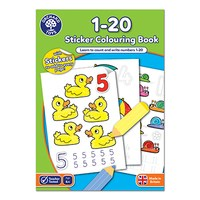 1-20 Colouring Book | With Stickers