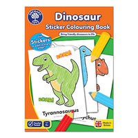 Dinosaurs Colouring Book   With Stickers   Only £3