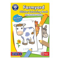 Farmyard Colouring Book | With Stickers
