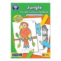 Jungle Colouring Book | With Stickers