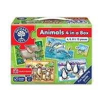 Animals Four in a Box Jigsaw