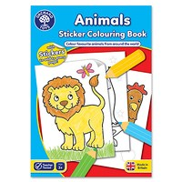 Animals Colouring Book   With Stickers