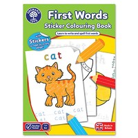 First Words Colouring Book | With Stickers