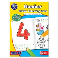 Number Colouring Book   With Stickers
