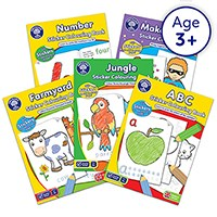 Preschool Pack 6   Colouring Books Collection