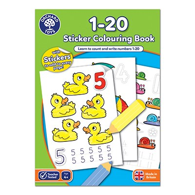 1-20 Colouring Book