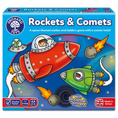 Rockets and Comets Board Game