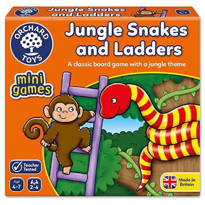 Jungle Snakes & Ladders Mini Game