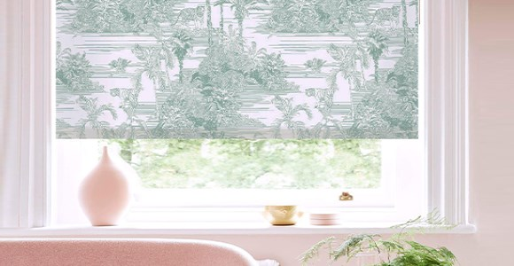Beautiful contemporary patterned roller blinds by designer Boon & Blake