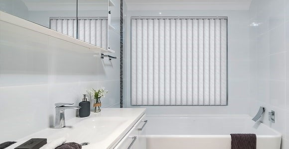 A range of waterproof PVC vertical blinds available made to measure at low prices