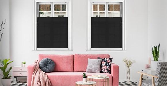 Stunning bottom up blinds in a range of plain, performance & designer fabrics.