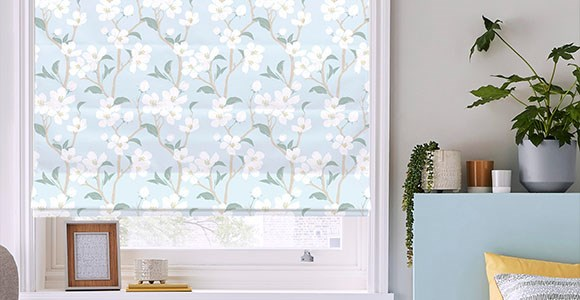 A stunning collection of floral & botanical print roman blinds to bring instant style to any space