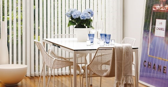 Jacquard, textured fabrics offer a great level of privacy in a beautiful way.
