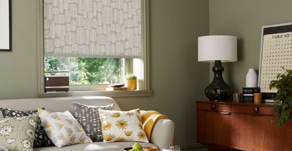 Miss Print roller blinds offered made to measure for quick delivery.